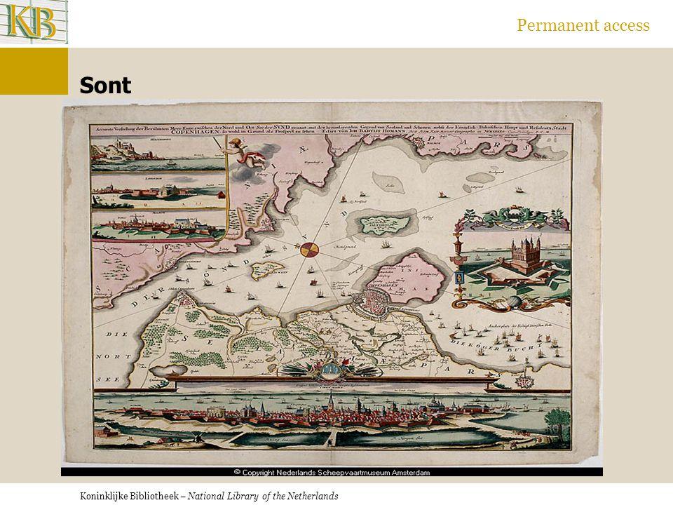 Koninklijke Bibliotheek – National Library of the Netherlands Permanent access Sont