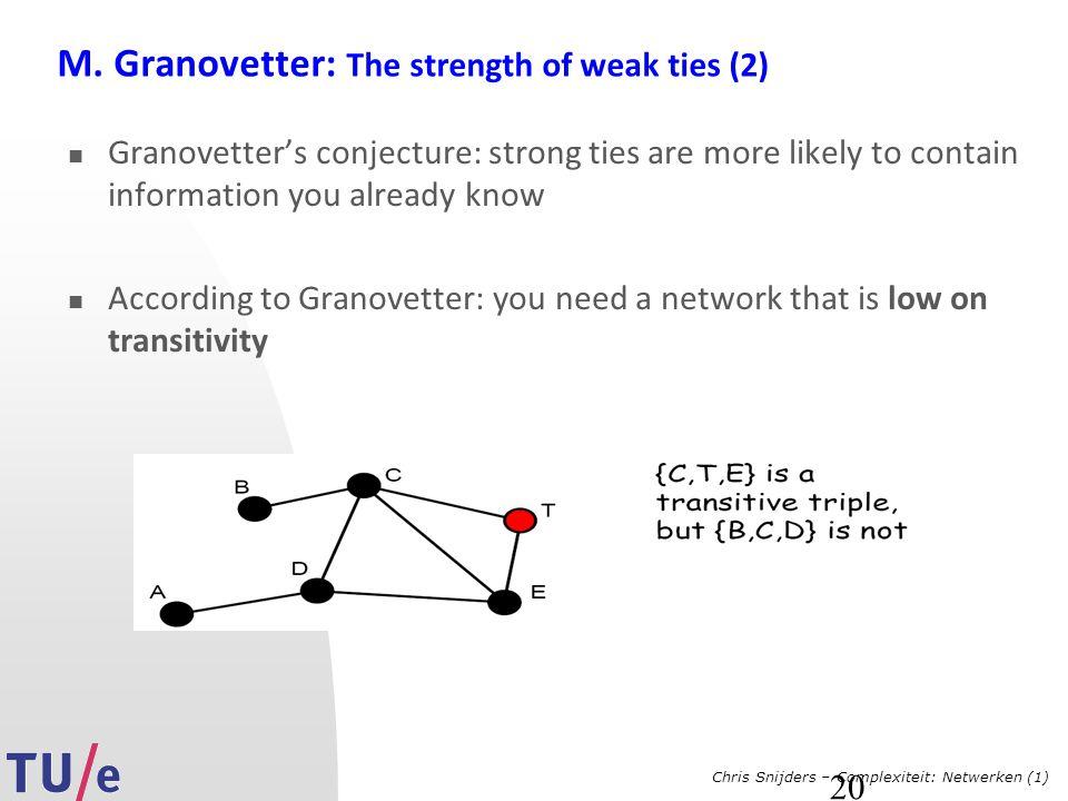 Chris Snijders – Complexiteit: Netwerken (1) 20 M.