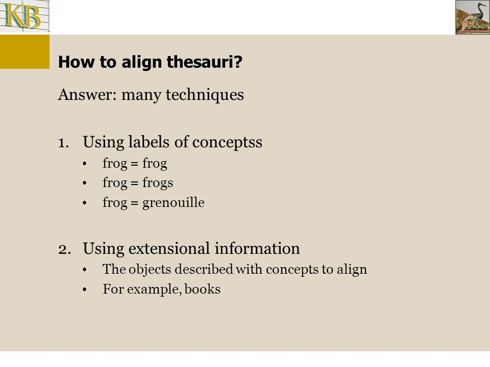 How to align thesauri.