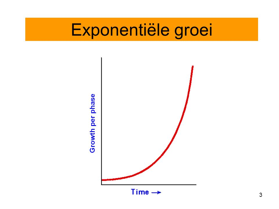 3 Growth per phase Exponentiële groei