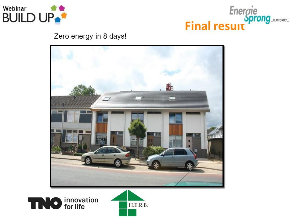 Webinar Final result Zero energy in 8 days!
