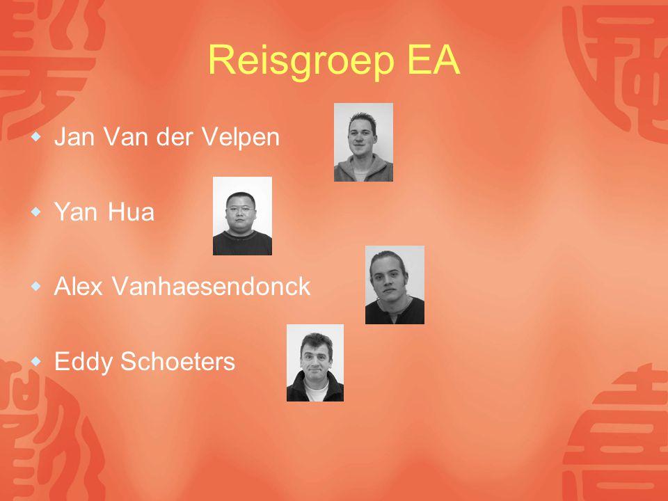 Reisgroep EA  Jan Van der Velpen  Yan Hua  Alex Vanhaesendonck  Eddy Schoeters