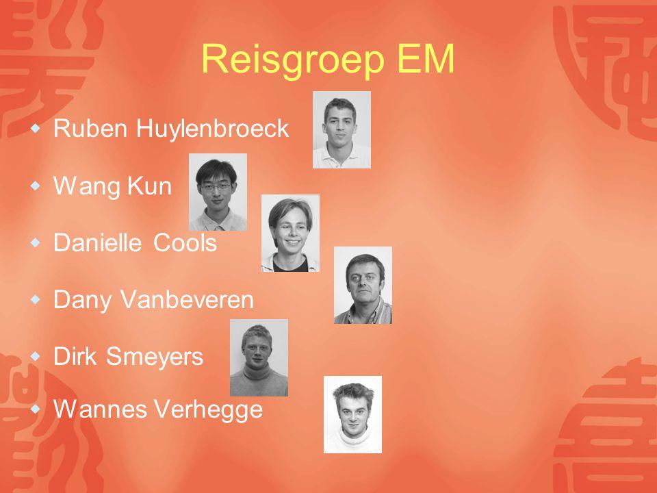 Reisgroep EM  Ruben Huylenbroeck  Wang Kun  Danielle Cools  Dany Vanbeveren  Dirk Smeyers  Wannes Verhegge