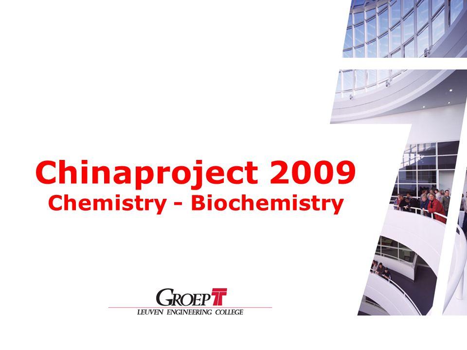 Chinaproject 2009 Chemistry - Biochemistry