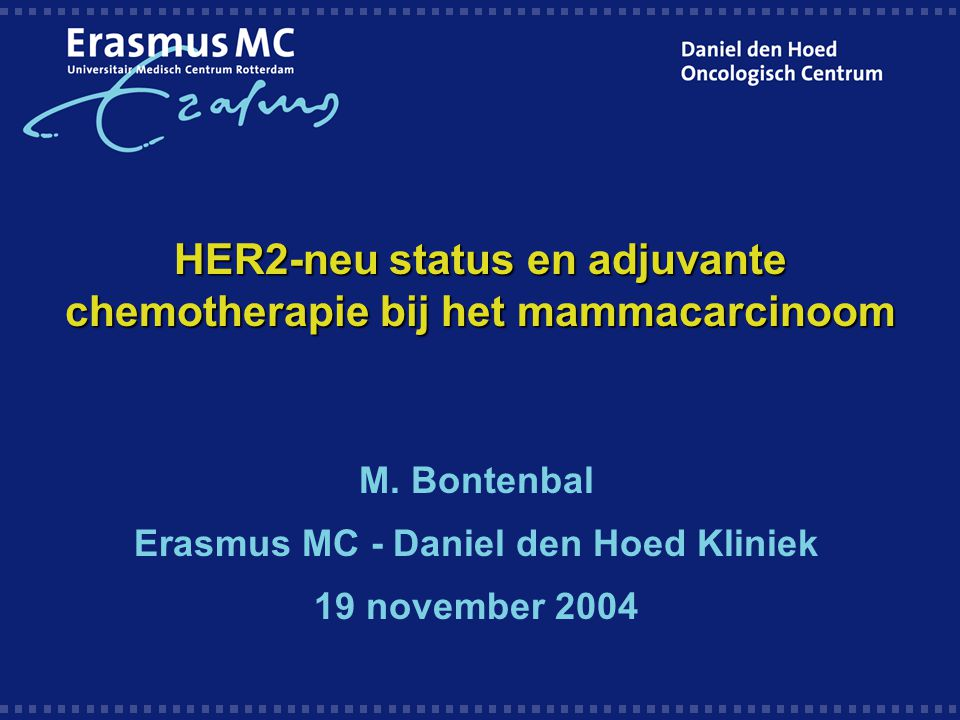 HER2-neu status en adjuvante chemotherapie bij het mammacarcinoom M.