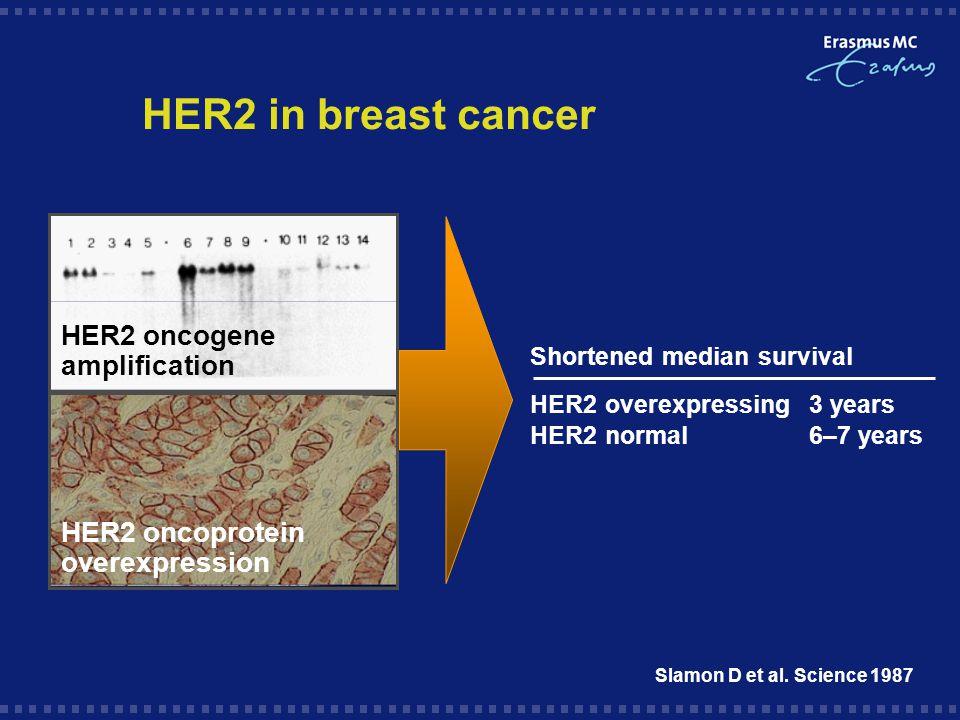 HER2 in breast cancer Slamon D et al.