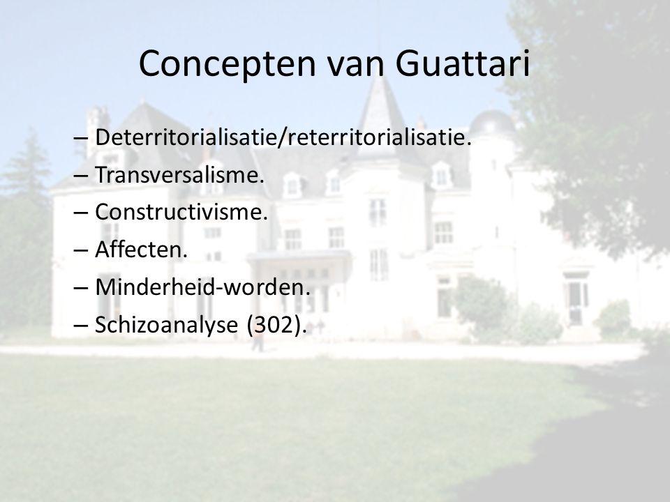 Concepten van Guattari – Deterritorialisatie/reterritorialisatie.