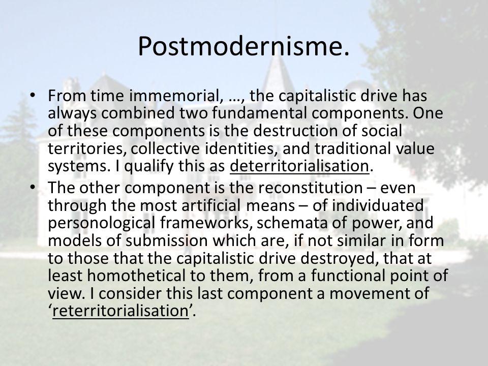 Postmodernisme.