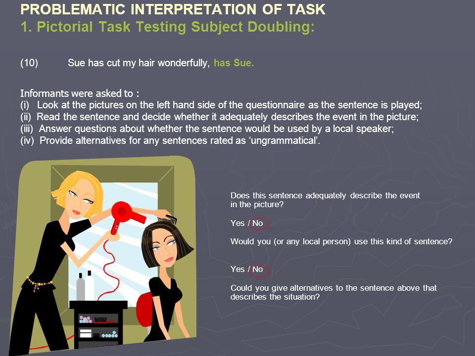 PROBLEMATIC INTERPRETATION OF TASK 1.