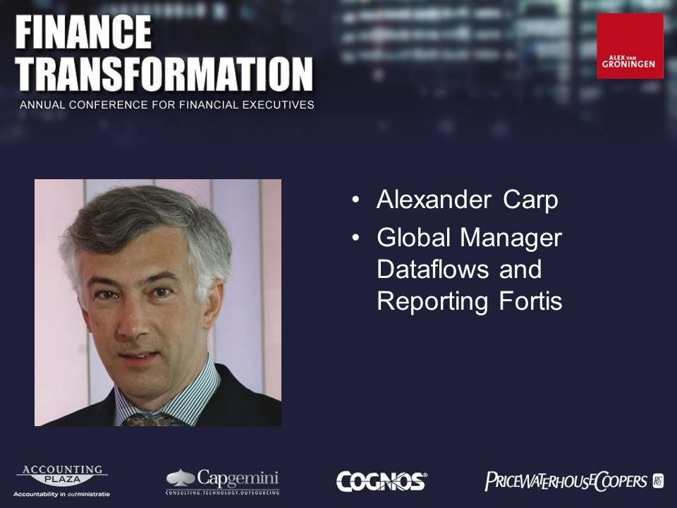 Alexander Carp Global Manager Dataflows and Reporting Fortis