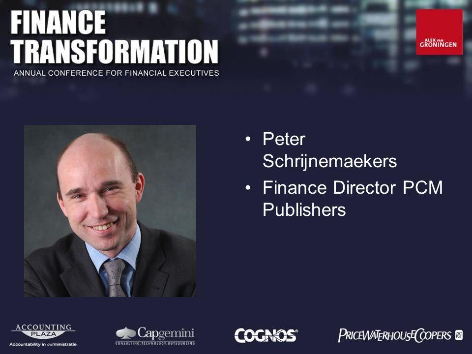 Peter Schrijnemaekers Finance Director PCM Publishers