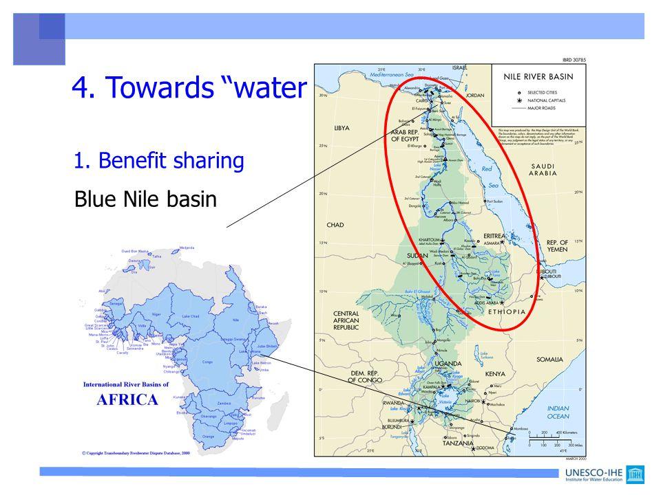 4. Towards water rationality Blue Nile basin 1. Benefit sharing