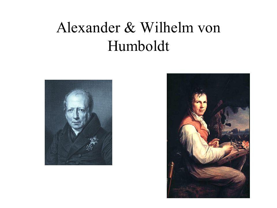 Alexander & Wilhelm von Humboldt