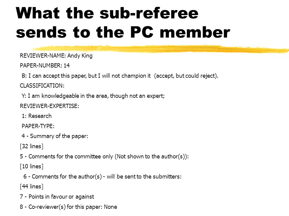 What the sub-referee sends to the PC member REVIEWER-NAME: Andy King PAPER-NUMBER: 14 B: I can accept this paper, but I will not champion it (accept, but could reject).