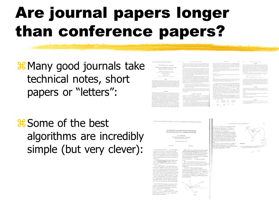 Are journal papers longer than conference papers.