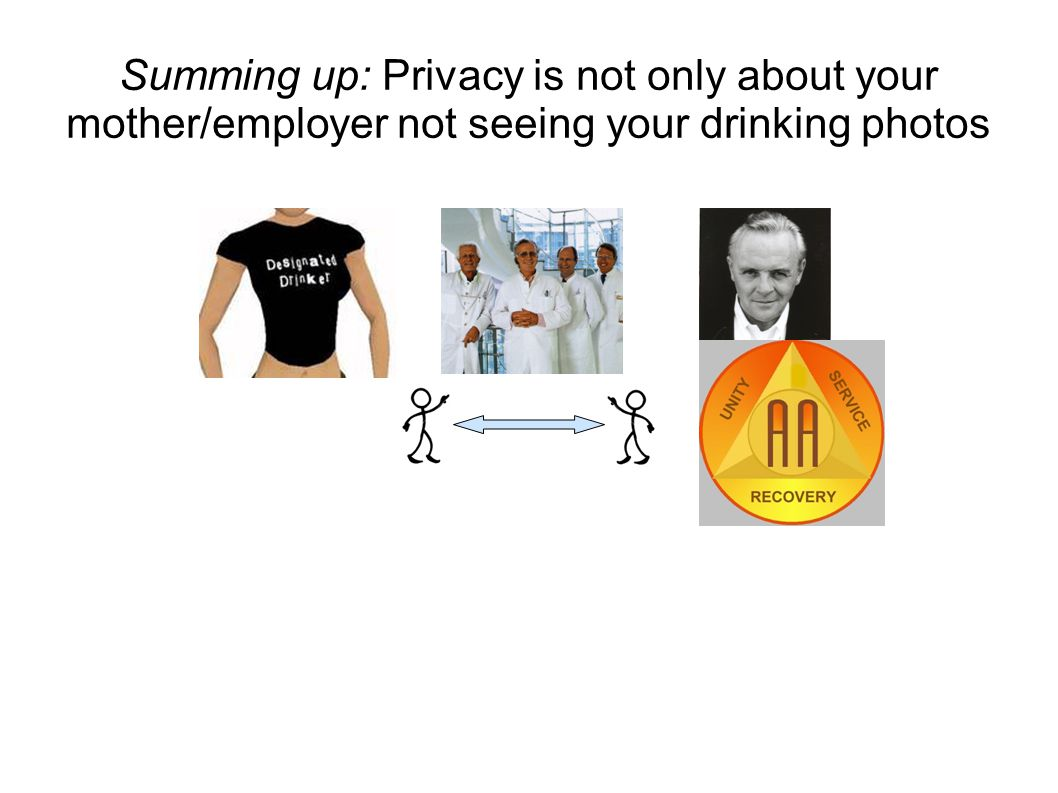 Summing up: Privacy is not only about your mother/employer not seeing your drinking photos