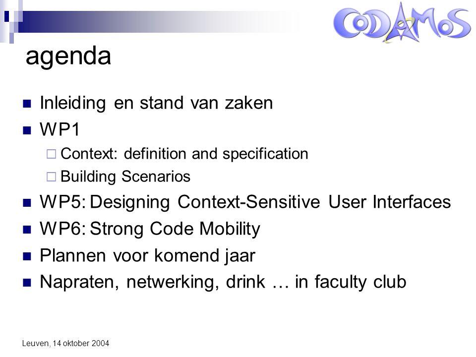 Context-Driven Adaptation of Mobile Services Inleiding en stand van zaken