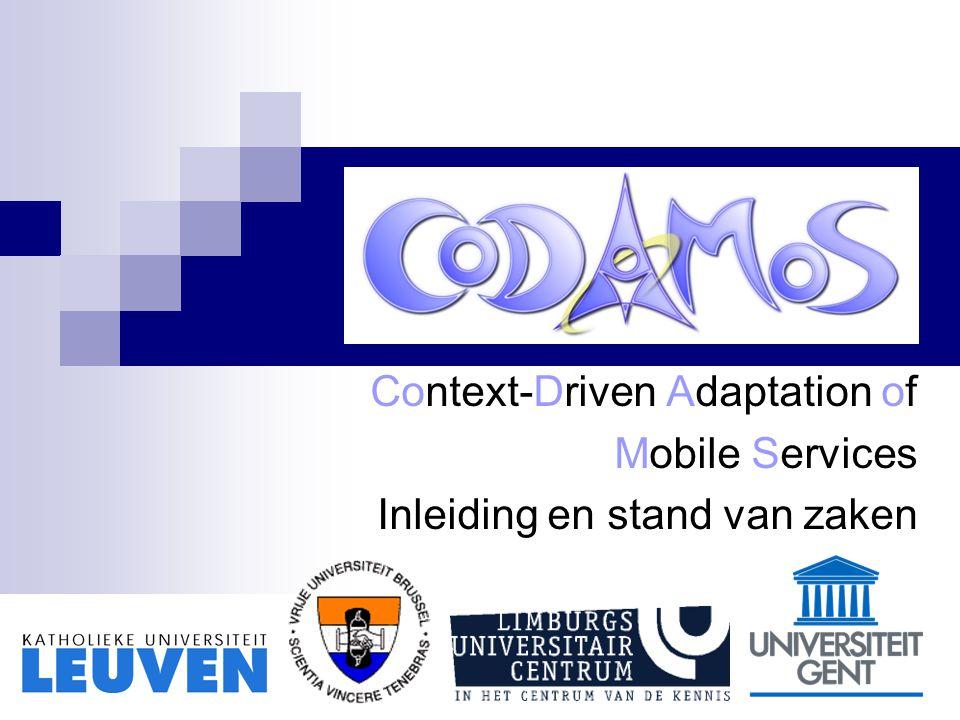 Leuven, 14 oktober 2004 Overzicht project: vertrouwde slides Projectplanning Inzoomen op werk uit afgelopen jaar dat verder niet aan bod komt in de presentaties  WP2, WP3, WP4, WP8
