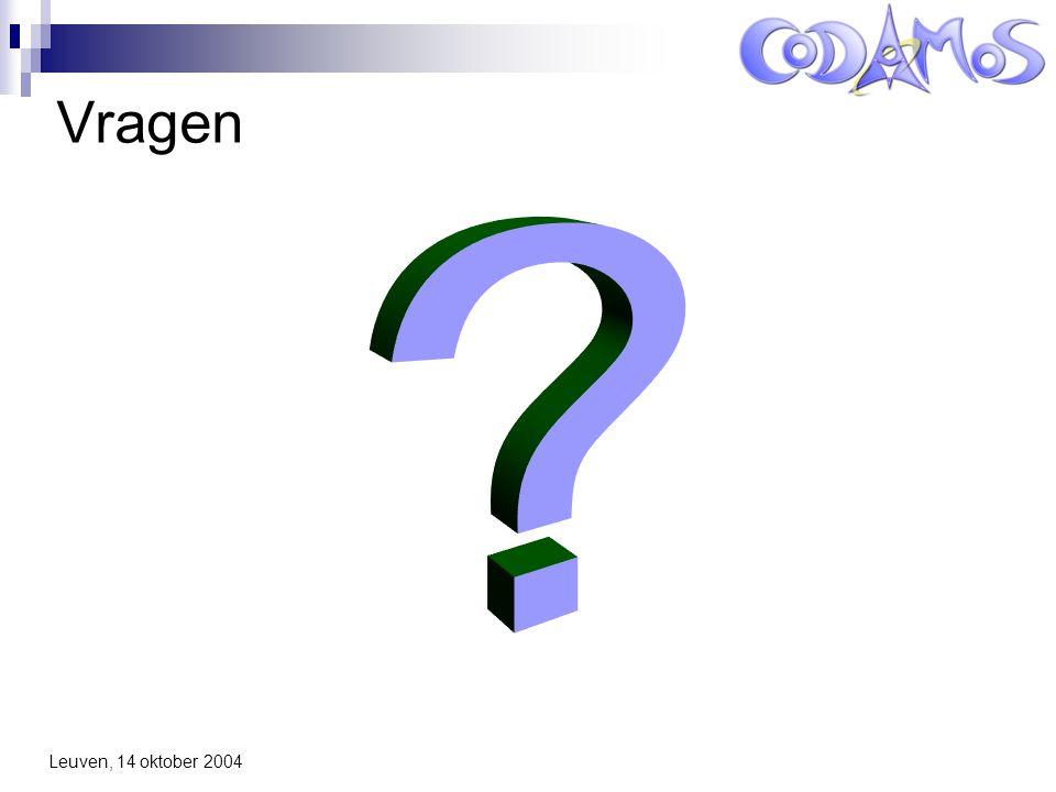 Leuven, 14 oktober 2004 Vragen