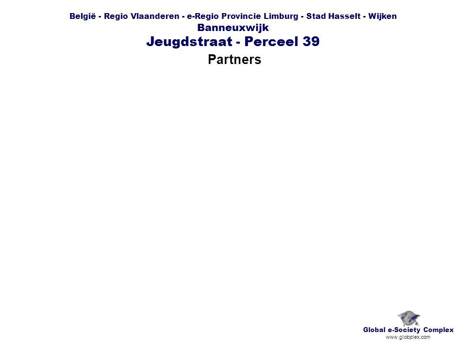 België - Regio Vlaanderen - e-Regio Provincie Limburg - Stad Hasselt - Wijken Banneuxwijk Jeugdstraat - Perceel 39 Partners Global e-Society Complex www.globplex.com