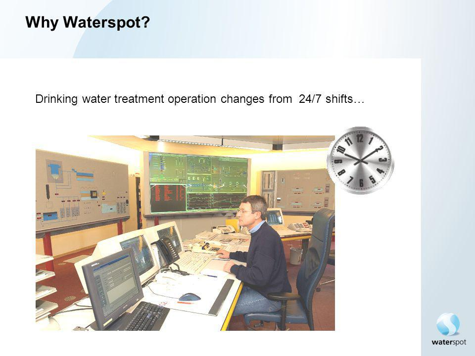 Why Waterspot? Drinking water treatment operation changes from 24/7 shifts…