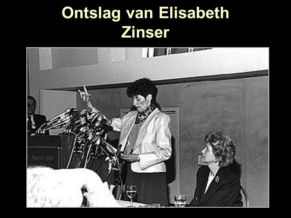 Ontslag van Elisabeth Zinser