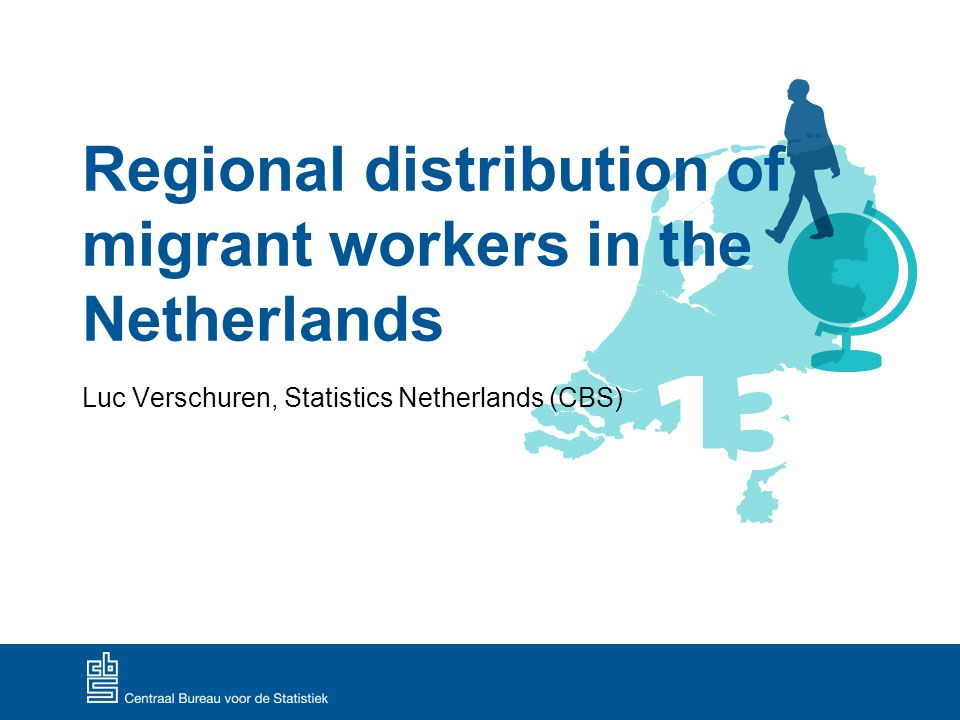 Context Migrant workers Constant increase in inflow of migrant workers in the Netherlands since 2004 Many migrant workers from Eastern and Central Europe Housing issues Strong increase in housing demand for both permanent and temporary residence Up until now: important role/ responsibility for Dutch employers Possible outcome: poor living conditions for migrant workers User Meeting on Microdata Research on Labour and Social Security - May 16 th 2013 1