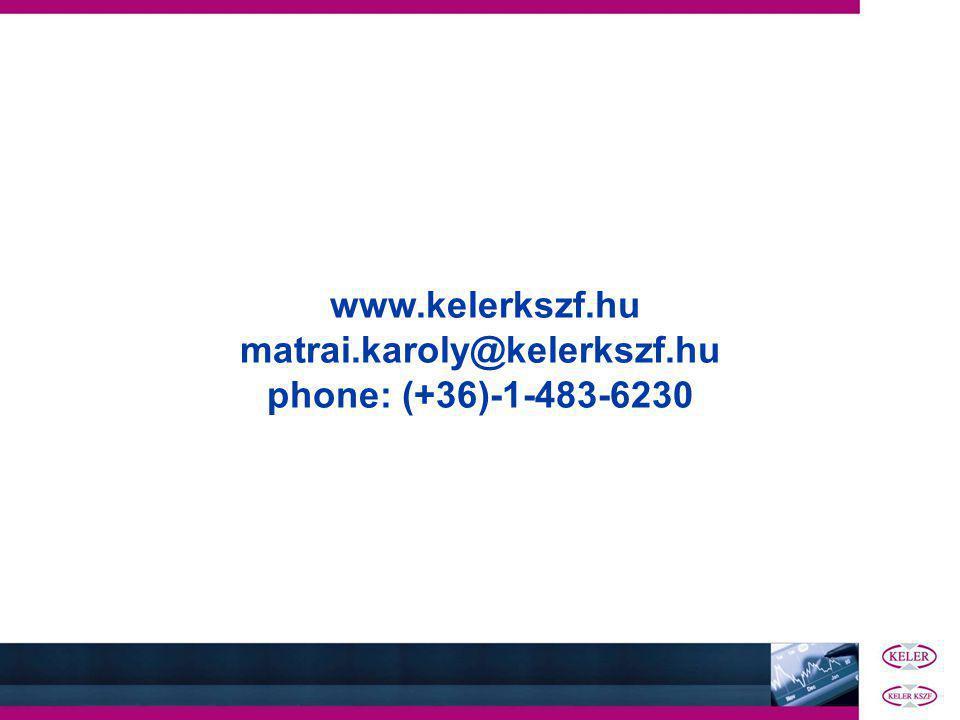 www.kelerkszf.hu matrai.karoly@kelerkszf.hu phone: (+36)-1-483-6230