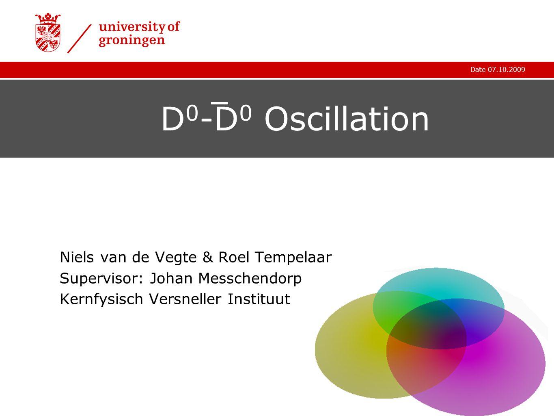 Date 07.10.2009 D 0 -D 0 Oscillation Niels van de Vegte & Roel Tempelaar Supervisor: Johan Messchendorp Kernfysisch Versneller Instituut
