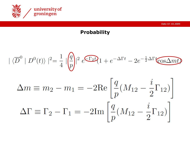 Date 07.10.2009 Probability