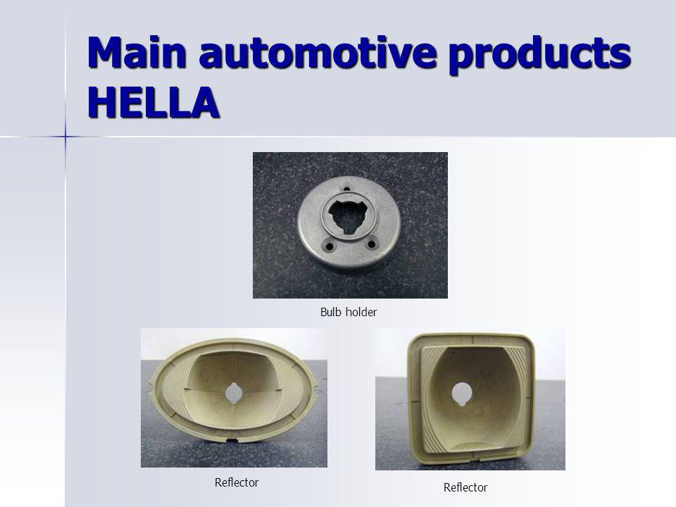Main automotive products HELLA Bulb holder Reflector