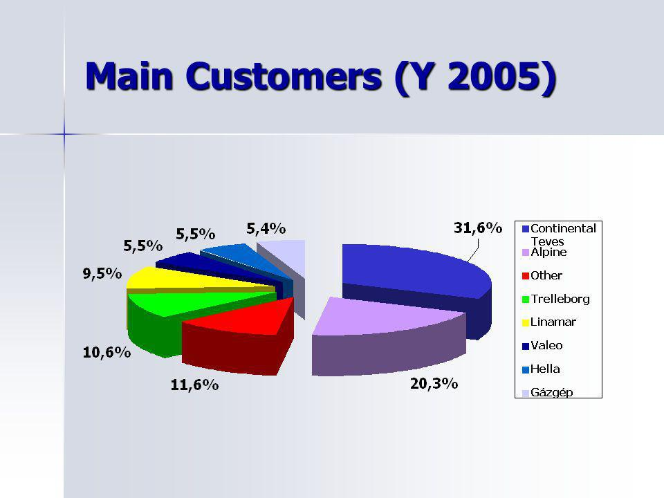 Main Customers (Y 2005)