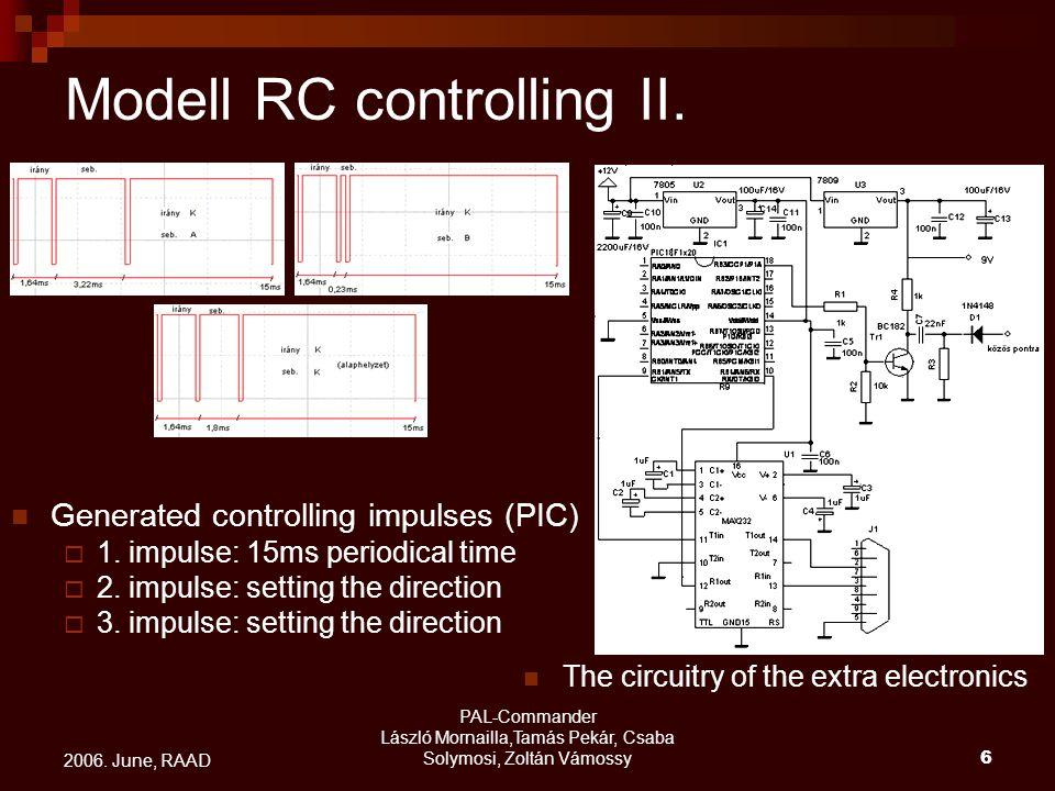 PAL-Commander László Mornailla,Tamás Pekár, Csaba Solymosi, Zoltán Vámossy6 2006. June, RAAD Modell RC controlling II. The circuitry of the extra elec