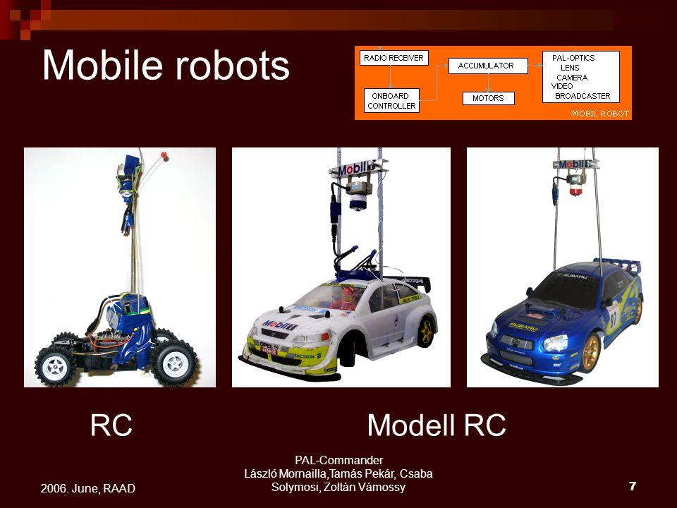 PAL-Commander László Mornailla,Tamás Pekár, Csaba Solymosi, Zoltán Vámossy7 2006. June, RAAD Mobile robots RCModell RC