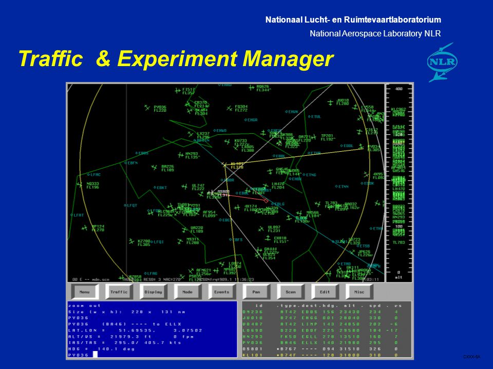 Nationaal Lucht- en Ruimtevaartlaboratorium National Aerospace Laboratory NLR CXXX-6A Traffic & Experiment Manager