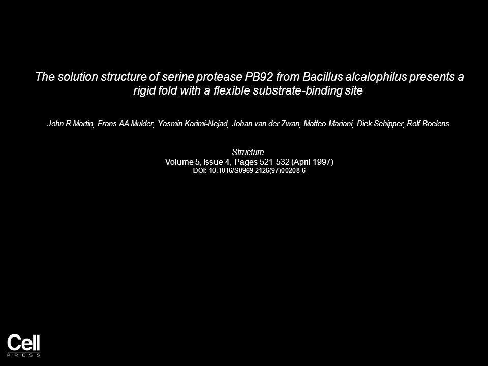 Figure 1 Structure 1997 5, 521-532DOI: (10.1016/S0969-2126(97)00208-6)