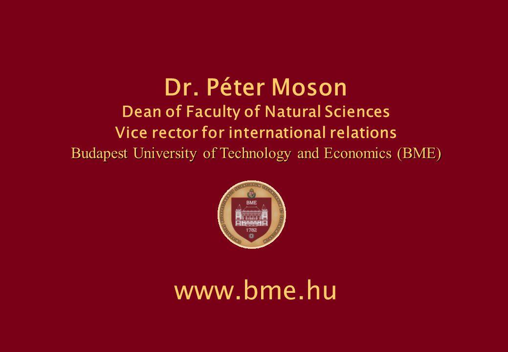 P.Moson, BME, Hungary 23 BUDAPEST BME DANUBE