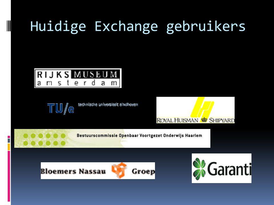 Huidige Exchange gebruikers