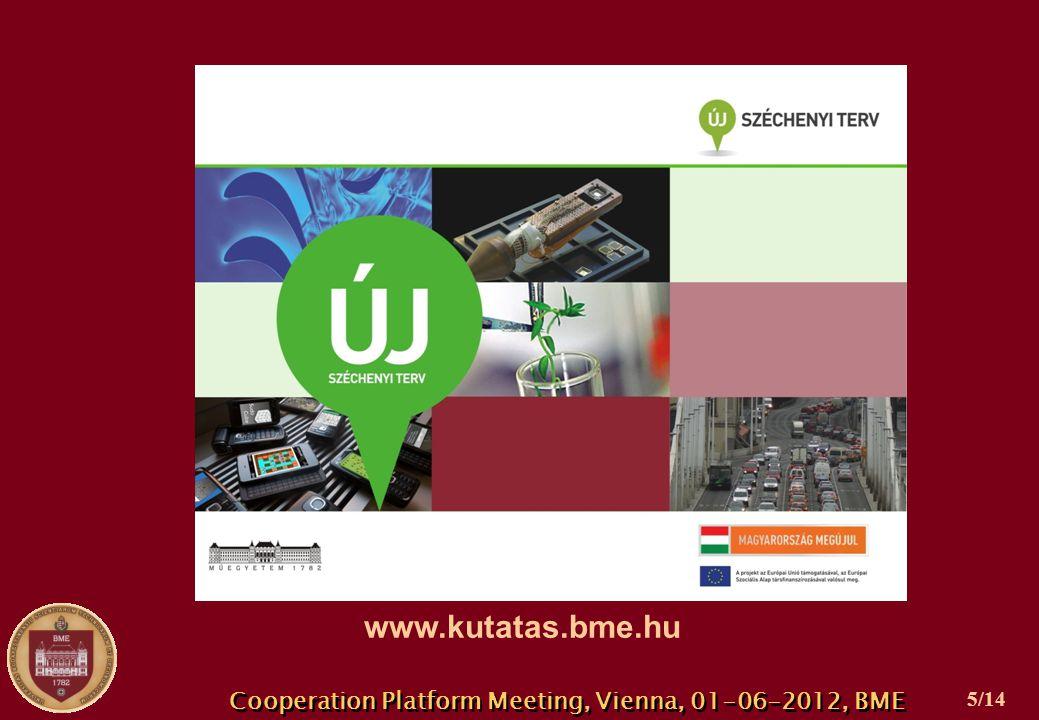 Cooperation Platform Meeting, Vienna, 01-06-2012, BME 5/14 www.kutatas.bme.hu