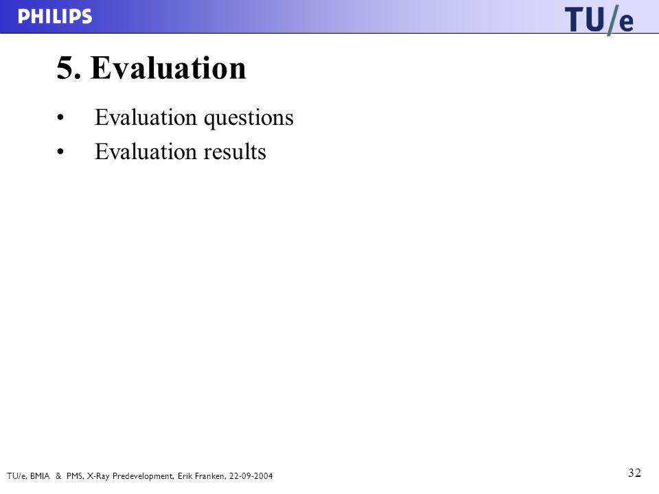 TU/e, BMIA & PMS, X-Ray Predevelopment, Erik Franken, 22-09-2004 32 5.