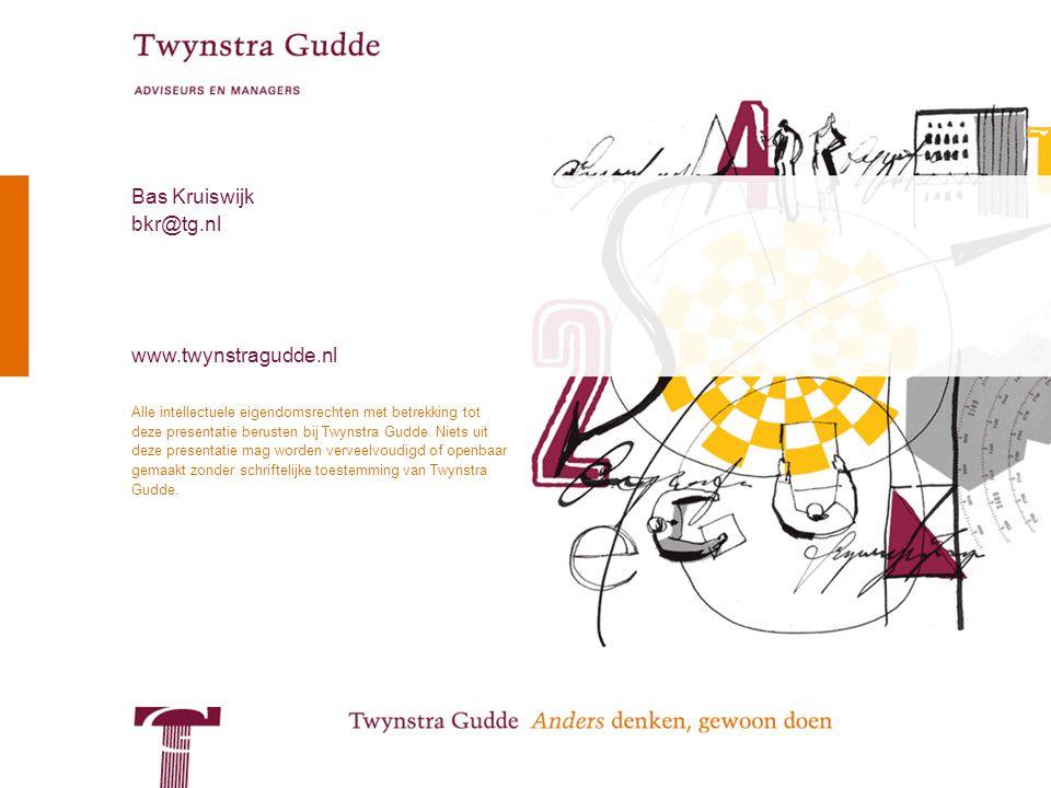 © Twynstra Gudde 12-5-2010 Service Oriented Architecture 17 Alle intellectuele eigendomsrechten met betrekking tot deze presentatie berusten bij Twynstra Gudde.