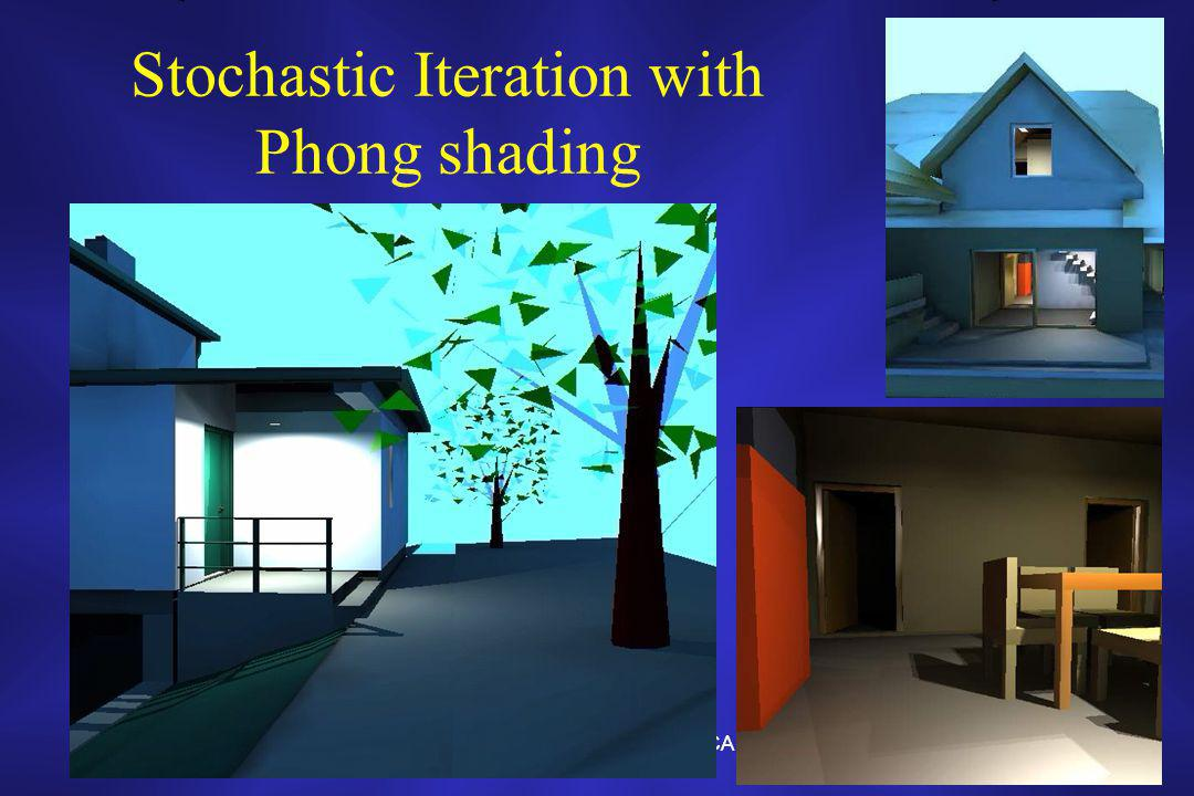 Photorealistic Image Synthesis in CAD systems17 Stochastic Iteration with Phong shading