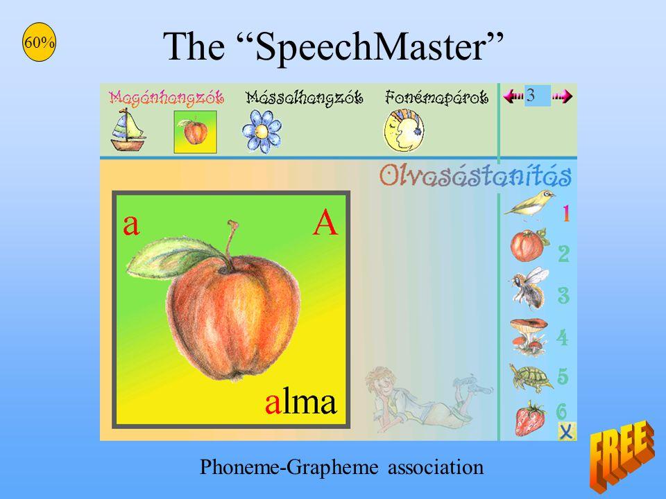 The SpeechMaster 60% Phoneme-Grapheme association