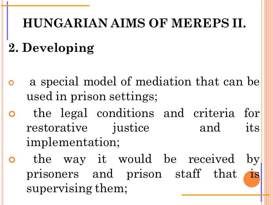 HUNGARIAN AIMS OF MEREPS II. 2.