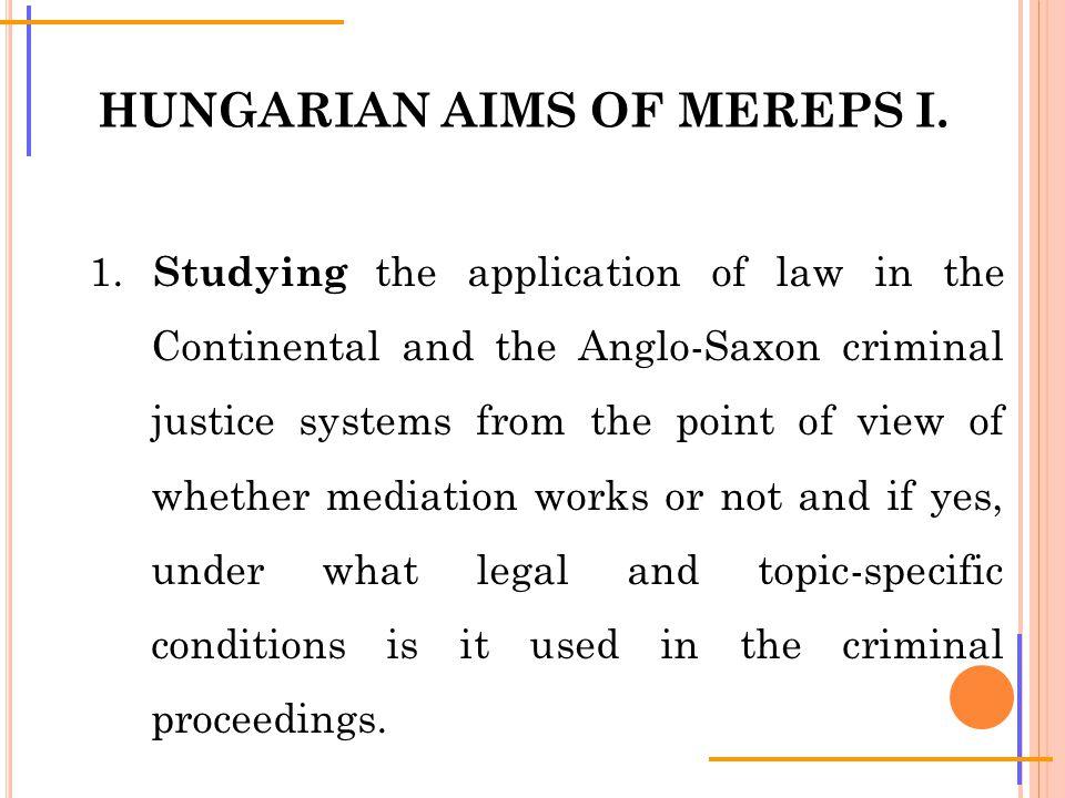 HUNGARIAN AIMS OF MEREPS I. 1.