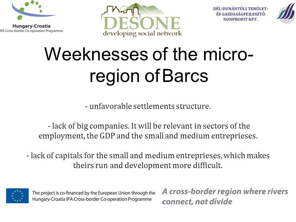 - unfavorable settlements structure. - lack of big companies.