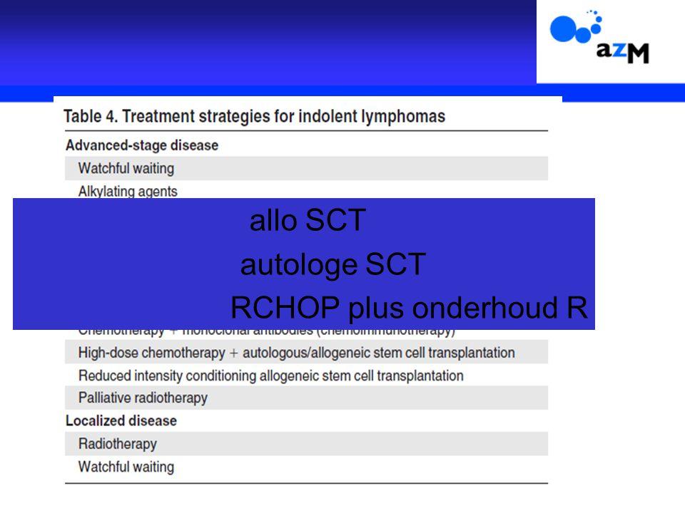 allo SCT autologe SCT RCHOP plus onderhoud R