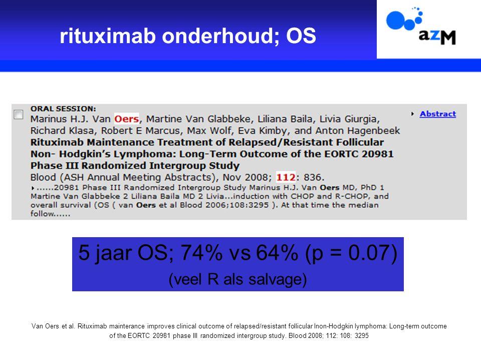 rituximab onderhoud; OS Van Oers et al.