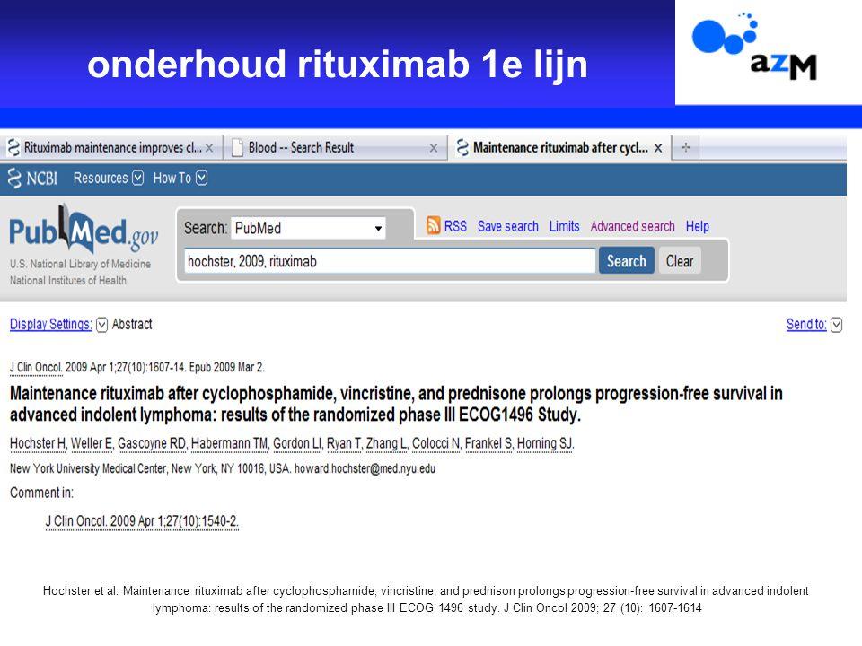onderhoud rituximab 1e lijn Hochster et al.