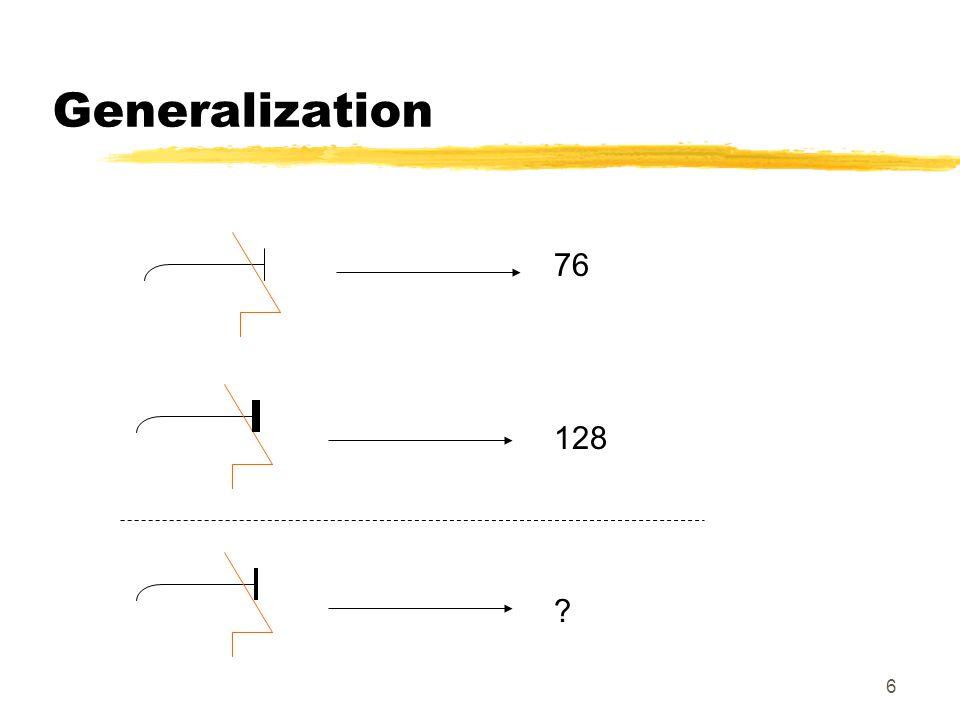 7 Univariate Linear Regression prediction of values Regression = generalization
